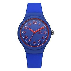 Hffan Damen Mädchen Studentenuhr Quarzuhr Armbanduhren für Frauen mit Silikonband Süß Beobachten Tabelle Handschmuck Armband Uhren Damenuhr Schau zu Handverzierungen