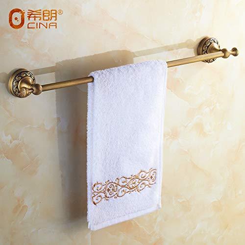 Hlluya asciugamano mounted rack l'asciugamano in ottone bar antiquariato cinese asciugamano in ottone solido antichi ornamenti scolpiti asciugamano, lunghezza 60cm