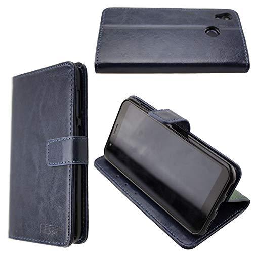 caseroxx Hüllen/Cases für das Gigaset GS185 (Bookstyle-Case, blau)