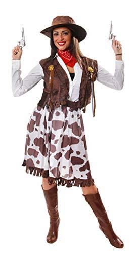 Fancy Me 5 Stück Damen Wilder Westen Jessie Cowgirl Cowboy Sheriff Kostüm Kleid Outfit STD &Übergröße - Multi, Plus (UK 16-20) (Cowboy-outfits Für Damen)