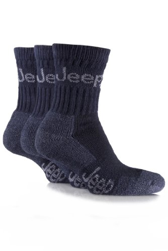 jeep-mens-pack-of-three-navy-boot-socks