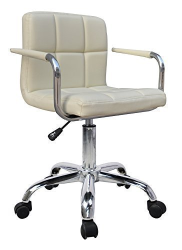 hnnhome-new-design-swivel-pu-leather-office-furnitue-computer-desk-office-chair-cream