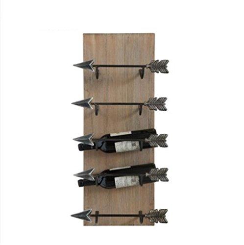 Land Möbel Lagerung (Metall Massivholz Wein Rahmen Eisen Schwert Form Wand Hängen Wein Regal American Land Individualität Originalität 5 Flasche Flasche Lagerung Rack , Da6810)