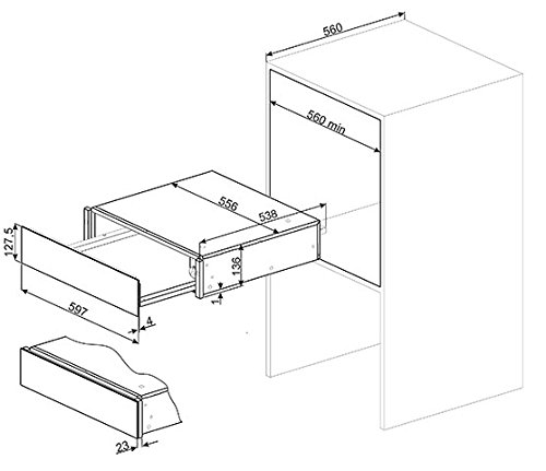 Smeg CTP8015A - warming drawers (Anthracite, 50/60 Hz)