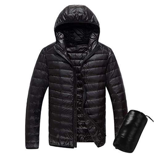 Luckycat Herren Daunenjacke Winterjacke Hooded Herren Daunenjacke Winterjacke Hooded Puffer Jacket, Steppjacke gefüttert mit Kapuze Herren Powder Lite Hooded Insulated Jacket -
