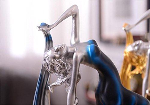 Creativo Dancer decorazione domestica stile europeo Retro soggiorno camera resina delle decorazioni Mobile TV Wine Crafts gabinetto , b