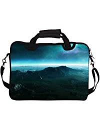 """Snoogg Neon Planet 12"""" 12.5"""" 12.6"""" Inch Laptop Notebook SlipCase With Shoulder Strap Handle Sleeve Soft Case With..."""