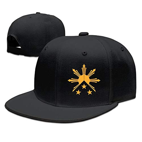 Cheeper Eletina Ds BTS Hat unter 5 Dollar, Flache Krempe, Unisex Tribal Philippinen Sonne und Sterne Flagge Fashion Dad Cap Kpop Street Fashion