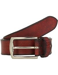 K London Men Casual, Formal Red, Black Genuine Leather Belt