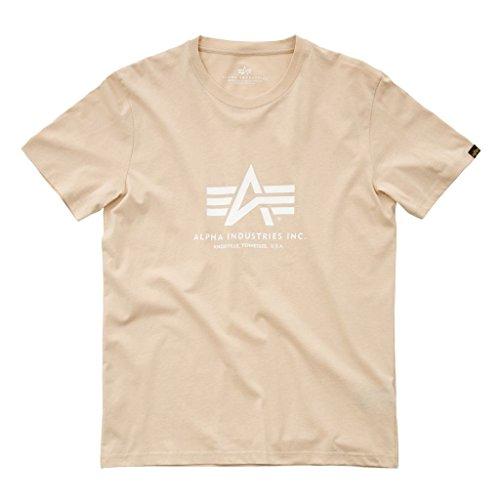 Alpha Industries Herren Regular Fit T-Shirt Basic T-Shirt Caramel