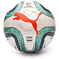 PUMA LaLiga 1 (FIFA Quality) Balón de Fútbol, Adultos Unisex, White-Green Glimmer-Nrgy Red, 5