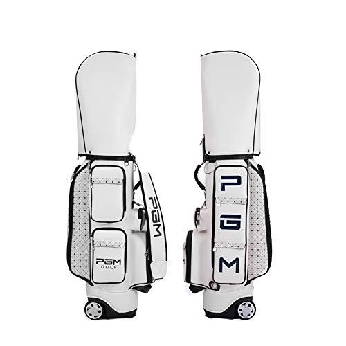 LXYIUN PGM Golf Standard Tasche PU wasserdichte Golf Taschen Multi-Zweck Luftfahrt Pakete Große Kapazität Reisetaschen Mit Räder (Nike Schuhe Tasche Golf)