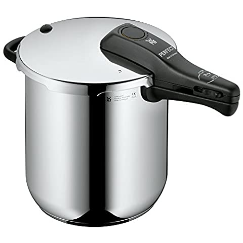 WMF Perfect Pressure cooker 8,5l without insert Ø 22cm Made in Germany internal scaling Cromargan stainless steel suitable for