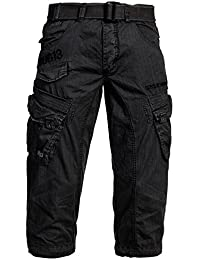 Bandit unit by geographical norway pour homme cargo 3/4 bleu short bermuda