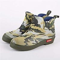 Men Wellingtons Boots Winter Snow Waterproof Rain Shoes Camouflage Low-Profile Kitchen Rain Boots
