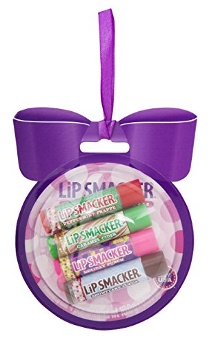 Lip Smacker Boule de Noël Lipsmacker Blister Cartonné 4 Baumes à Lèvres