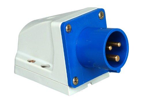 Preisvergleich Produktbild Kopp 171600001 Caravan Wandstecker 3-polig,  16 A,  230 V,  blau