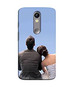 99Sublimation Designer Back Case Cover For Motorola Moto X Force :: Motorola Moto X Force Dual SIM Love Blue Wether Sky Design