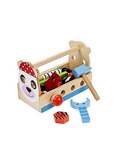 Kinder Werkzeugkasten inklusive Werkzeug, Schrauben und Bauelementen von Mousehouse Geschenke