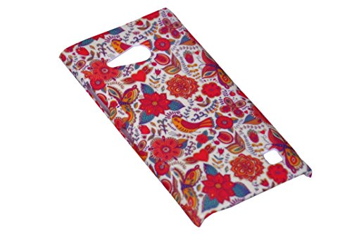 Floral Fashion Designer Print Snap-On Hard Slim Back Flexible Bumper Case Cover For Sony Xperia M2 Dual  available at amazon for Rs.149
