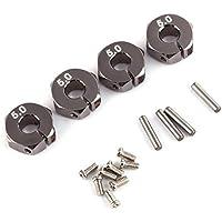 Tranello (TM) Silver RC alluminio 5,0 Wheel Hex 12 millimetri fisso con perni e viti per auto HSP 4P 1:10 corsa mozzi di trasmissione per RC automodellismo