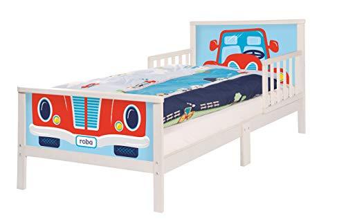 roba Themenbett \'Rennfahrer\', Kinderbett 70x140cm inkl. Matratze und Lattenrost für Jungs