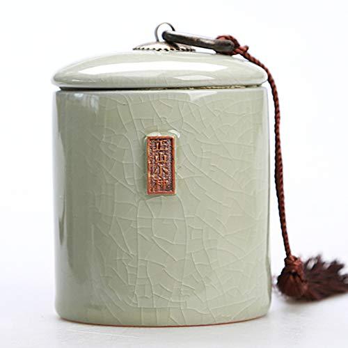 Tee-dosen, Keramik Pu ' Er Ge-brennofen Versiegelten Dosen, Celadon Lagertanks, Keramik Teedose, Porzellan-tee-container-l 7x10cm(3x4inch) -