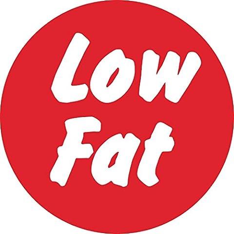 Vogue gj064à faible teneur en matières grasses étiquettes alimentaires (Pack de 1000)