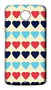 Mott2 Back Case for Google Nexus 6 | Google Nexus 6Back Cover | Google Nexus 6 Back Case - Printed Designer Hard Plastic Case - love theme