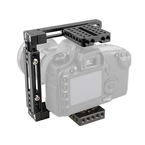 LFTS DSLR-Kameras Kamerakäfig Einstellbar Passend für Filmmaker Filmemachen Aufnehmen Vlogging 60D 7D 80D 5D 5DS 5DSR 50D 40D 30D 6D 7D Skalierbares MIC-Videomonitor-Stativ 5d 50d 40d Kamera