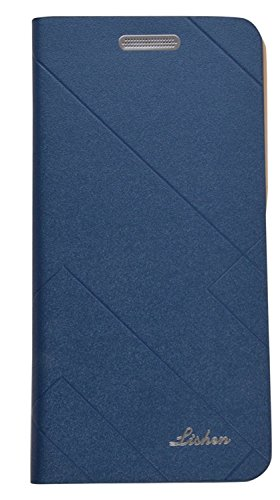 MuditMobi Premium Lishen Wallet Imported Leather Flip Cover for - Xiaomi Redmi 3S Prime - Blue