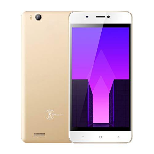 Günstiges Handy Ohne Vertrag, Ken V6 Dual SIM Mobile Phone 3G Android 7.0 Smartphone entsperrt (Mobiltelefon 4,5 Zoll Display, 8GB Interner Speicher Mini-Telefon, 1700mAh Akku, GPS/WiFi) - Gold