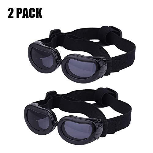 YOCC Coole Dog Goggles & Pet Glasses Doggie Sonnenbrillen Big Dog Eye Wear Schutz faltbar/Winddicht/verstellbares Band UV-Schutz