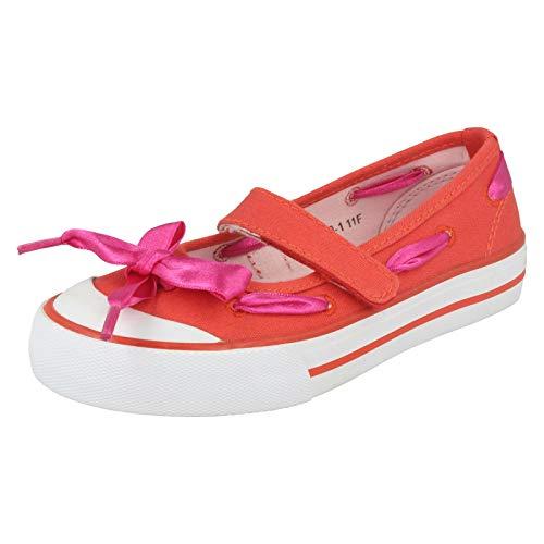 23fc34e46308e Filles Startrite Bottes d été Chaussures de Toile Ruban - Rouge - Red