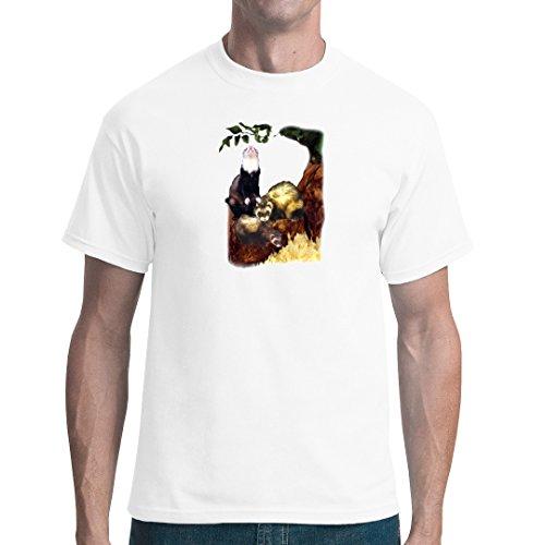 Fun unisex T-Shirt - Frettchen by Im-Shirt Weiß
