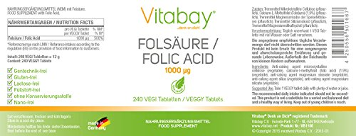 L'acide folique - L'acide folique - L'acide folique 1000 mcg - 240 Comprimés