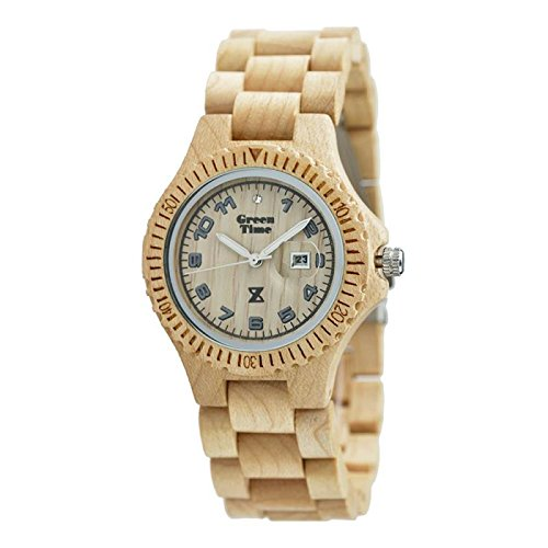 Uhr Zzero Green Time zw006b Quarz (Batterie) Holz Quandrante weiß Armband Holz