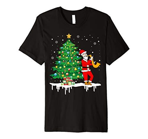 Weihnachtsmann, der Saxophon-lustiges T-Shirt -