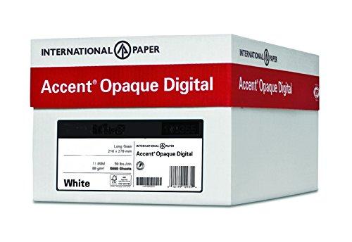 Accent blickdicht, glatte, weiß, 36,3kg schweren, 19x 13, 97Heller, 800Blatt/4Ries Fall, hergestellt in den USA - Kommerzielle Ebene