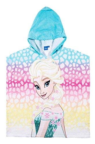 La Reine des Neiges Cape de bain à capuche enfant fille Bleu/rose 60x120cm