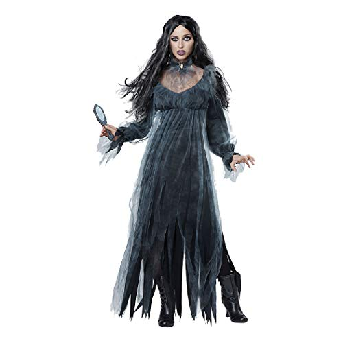 Frauen Cosplay Halloween Kostüm Horror Ghost Dead Corpse Zombie Braut Kleid,Schwarz,XL (Ghost Kostüm Party Stadt)