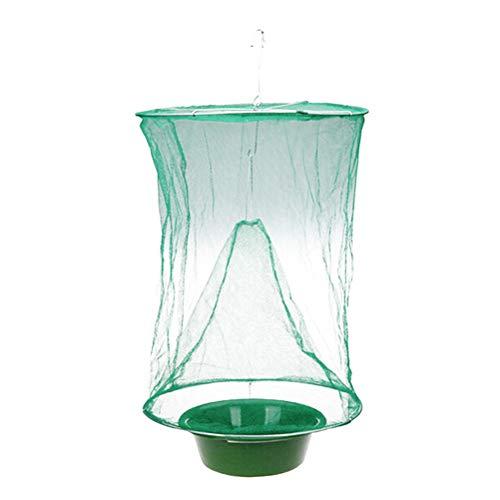 OUNONA ungiftig fliegenfalle Net Top Catcher Aufhängen Fly Wasp Killer für Garten Home Yard (grün) -