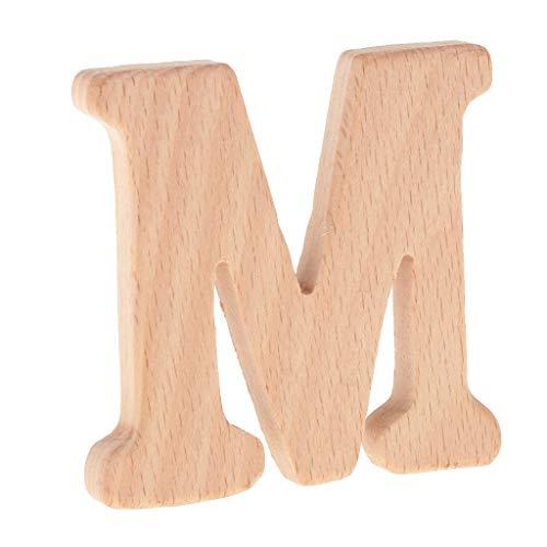 B Baosity Handwerk Holz buchstaben Für Kunsthandwerk DIY - M