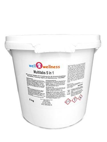 well2wellness Chlor Multitabs 5 in 1 200g mit 96% Aktivchlor - 5,0 kg