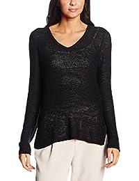 VILA CLOTHES Damen Strickpullover Vitappa V-Neck Knit TOP