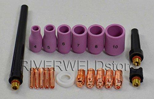20pcs TIG Collet Body Alumina buse Retour Cap Fit TIG torche de soudage DB SR WP9 20 25