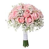 Hniunew Möbel Indoor Balkon Art KüNstliche Blume Dekoration GefäLschte Blume Zierpflanze Kunstseidenblume KüNstlicher Blumenstrauß Strauß Crystal Rose Pearl Brautjungfer Dekor Plastikblumen