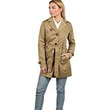 bcb1d3908eca DESIRES Tessa Damen Trenchcoat Mantel mittel-lange Jacke mit Gürtel und  Umlege-Kragen