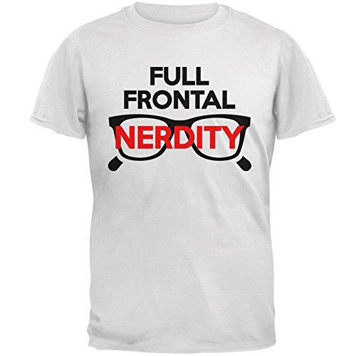�m Volle frontale Nacktheit Nerdity Wortspiel Herren-T-Shirt Weiß 3 X-LG (Halloween Kostüm Nerd)