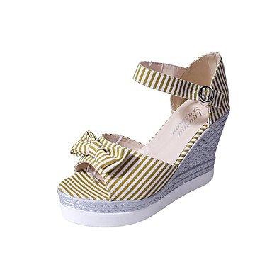 Scarpe Donna FYZSDonne Sandali Primavera Estate Autunno Club Shoes Pu Ufficio esterno e carriera casuale che cammina Zeppa Platfor US6.5-7 / EU37 / UK4.5-5 / CN37